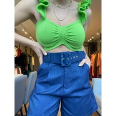 Cropped Tricot Babado